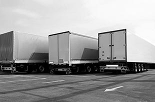 Three Trucks Parked
