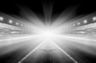 Headlights in Tunnel